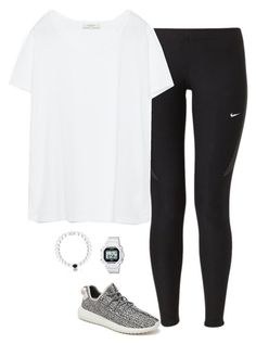 """""""Shoes..."""" by keswenson ❤ liked on Polyvore featuring NIKE, adidas Originals, Zara, Casio and Everest"""