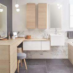 Salle de bains Blanc / Beige / Naturel Bois SENSEA Naturel / Authentique