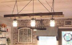 16 Best Ladder Light Fixtures & Chandeliers DIY Ideas 17 - Pendant Lighting - iD Lights Best Ladder, Diy Ladder, Rustic Ladder, Ladder Decor, Diy Chandelier, Outdoor Chandelier, Kitchen Chandelier, Modern Farmhouse Style, Farmhouse Ideas