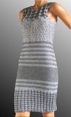 robe argenté au tricot