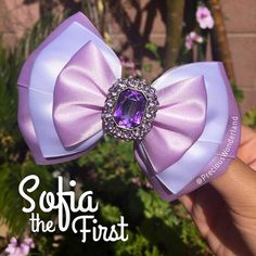 Purple Princess Inspired Hair Bow by PreciousWonderland on Etsy