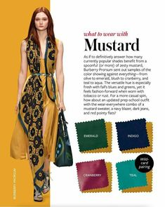 What to wear with MUSTARD colour