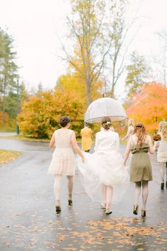 A clear umbrella is a must have in your wedding day emergency kit! If you're going to need one, this is on the more stylish side! Tip from Something New for I Do
