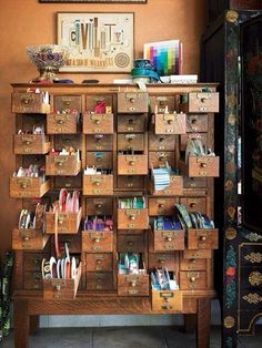 Atelier--what I wouldn't give for one of these old card catalogues!                                                                                                                                                                                 More