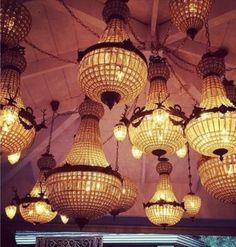 Pump interiors, chandelier collage