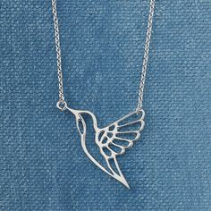 Sterling Hummingbird Necklace - Women's Clothing, Unique Boutique Styles & Classic Wardrobe Essentials
