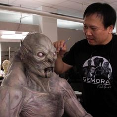 @stevewangcreaturecreator adds final touches to the nightmare #vampire for #Batman v #Superman: Dawn of Justice (2016)