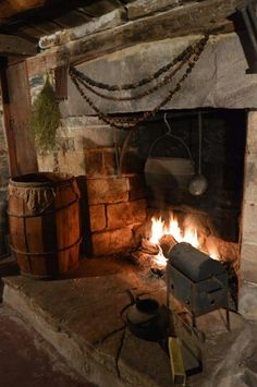 This fireplace from Avery Hill Farm seems just about perfect for its purpose.  What an atmosphere this creates!