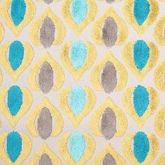 Green/Blue Geometric Cut Polyester-Viscose Velvet Fabric by the Yard   Mood Fabrics