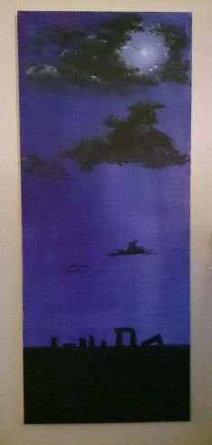 Purple Moon by Chrissie Wingate, ( it is inspired by another painting)