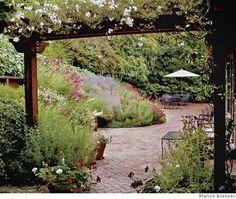 herringbone brick patio. do it.