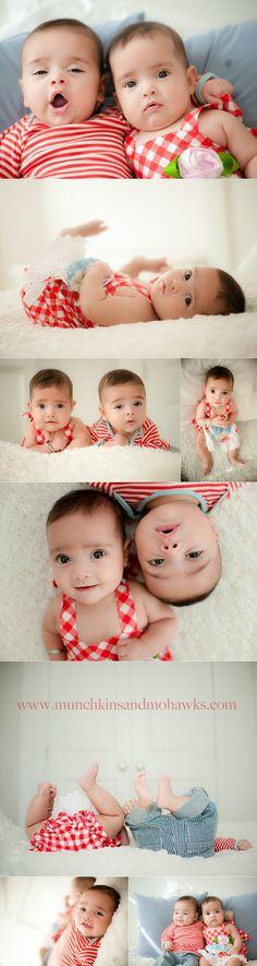 5 month old twin babies www.munchkinsandmohawks.com/blog
