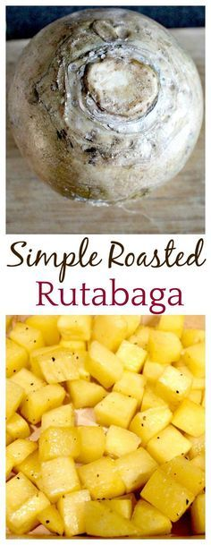 Simple Roasted Rutabaga Recipe - Delicious Little Bites - This Roasted Rutabaga recipe is how I made this vegetable the first time I ever tried it! Who knew s - Best Vegetarian Recipes, Vegetable Recipes, Healthy Recipes, Delicious Recipes, Free Recipes, Irish Recipes, Healthy Dishes, Ww Recipes, Unique Recipes