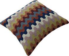 "Momeni Rugs Chainstitch Pillows Ottomans 20"" - Pillow CSP-4 Multi CHAINCSP-4MTIPI20"