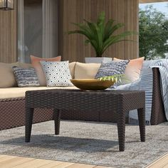 Mercury Row® Lindenberg Sun Lounger Set & Reviews | Wayfair Furniture, Glass Dining Table, Wooden Side Table, Wicker Coffee Table, Rattan Coffee Table, Side Table Wood, Metal Dining Table, Outdoor Coffee Tables, Patio Dining Chairs