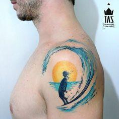 Wave sun tattoo travel