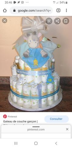 Baby Shower Gifts, Baby Gifts, Diaper Cake Boy, Diaper Cakes, Diy Cake, Wedding Moments, Children, Image, Decoration