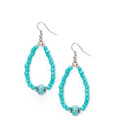 Love+this+Turquoise+Beaded+Drop+Earrings+by+Adra+Jewelry+on+#zulily!+#zulilyfinds