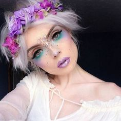 12 pretty unicorn makeup ideas for halloween mermaid costume Fairy Make-up, Fairy Fantasy Makeup, Fantasy Make Up, Fantasy Hair, Elf Makeup, Makeup Art, Beauty Makeup, Makeup Ideas, Fairy Costume Makeup