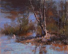 A Quiet Little Spot by Barbara Jaenicke Pastel ~ 8 x 10