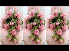 Özlem Topal #Kurdale Modelleri # Çok kolay Tesbih ucu # - YouTube Organza Flowers, Kanzashi Flowers, Fabric Flowers, Save On Crafts, Diy Home Crafts, Band Kunst, Ribbon Flower Tutorial, Flower Video, Ribbon Art