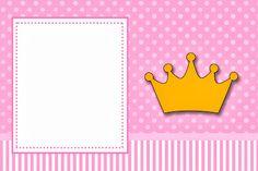 Coroa Princesa – Kit Completo com molduras para convites, rótulos para guloseimas, lembrancinhas e imagens!  Fazendo a Nossa Festa