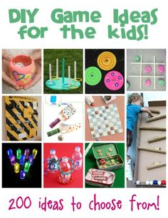 We've collected 200 games that you can make with your kids to play and play and play! Here are all the DIY game ideas for kids to browse thr...
