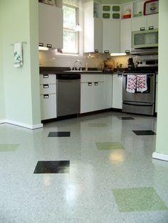 Old school VCT pattern: Kitchen Flooring - modern - kitchen - baltimore - HomeFinishers