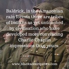 When Blackadder didn't mince with words over Baldrick's pathetic Charlie Chaplin impression!