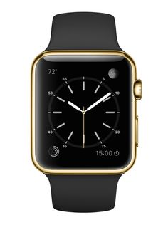 just Don't Call It Bling: Apple Watch Edition 42mm, 18-karat yellow gold case with black sport band.
