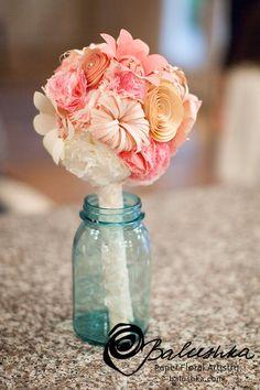 Handmade Paper Flowers Custom Made 6 Flowers from by balushka