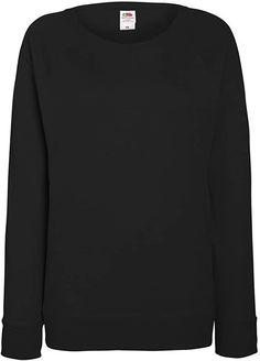 Farbe etwas anders, Größe wie angegeben  Bekleidung, Damen, Pullover & Strickjacken, Pullover Raglan, Fruit Of The Loom, Sweatshirts, Sweaters, Fashion, Sweater Cardigan, Clothing, Breien, Women's