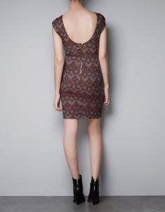 JACQUARD DRESS WITH LOW-CUT BACK - Dresses - TRF - New collection - ZARA @2790 new