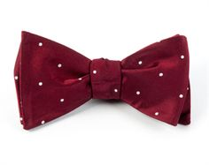 SATIN DOT - BURGUNDY