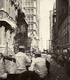 Vintage 1958, Ticker Tape Parade for the Submarine Crew of the Nautilus, NYC, www.RevWill.com