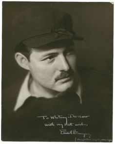 Ernest Hemingway--Inscribed to Whitney Darrow, head of publicity for Scribners. (Taken in Paris for pub. with a short story in Scribners magazine. Earnest Hemingway, Men Of Courage, Nobel Prize In Literature, Writers And Poets, American Literature, Book Authors, Belle Photo, Famous People, Photos