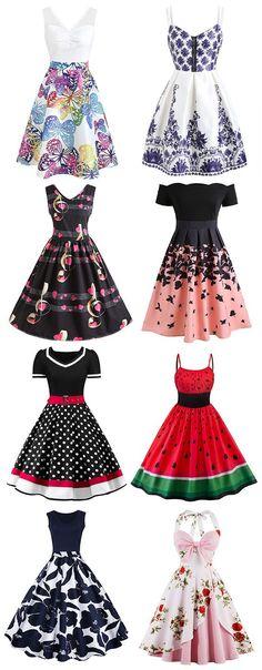 Vintage Dresses, Cheap Vintage Clothing and Retro Dresses for Women Casual Online 50s Dresses, Cheap Dresses, Vintage Dresses, Vintage Outfits, Dresses For Parties, Summer Dresses, Pretty Outfits, Pretty Dresses, Beautiful Dresses