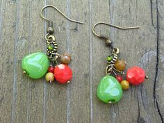 Bright Multicolored Earrigs