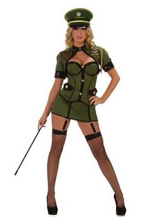 Army General Deluxe Sexy Costume | Wholesale Military Halloween Costumes for Sexy