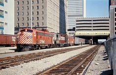 CP, Calgary, Alberta, 1971 Canadian Pacific Railway passenger train no. 1, the Canadian, led by locomotive no. 1412 in Calgary, Alberta, on August 20, 1971. Photograph by John F. Bjorklund, © 2015, Center for Railroad Photography and Art. Bjorklund-36-06-07