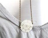 cute doily  necklace idea