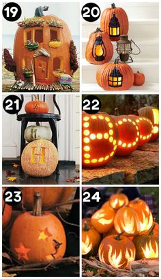 So many fun and creative pumpkin carving ideas!