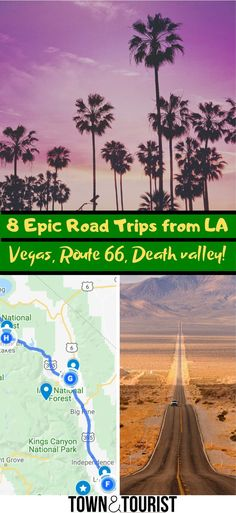 8 Bucket-List Road Trips from Los Angeles! Road Trip Map, Road Trip Planner, Road Trip Hacks, Road Trips, Hockey Girls, Hockey Mom, Ice Hockey, Interactive Map, Secret Places
