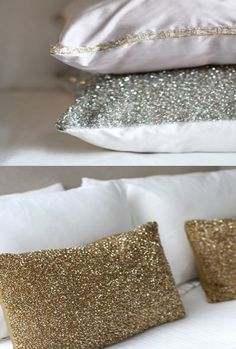 Oh sugar coated pillows, YUM ... love the gold ones!