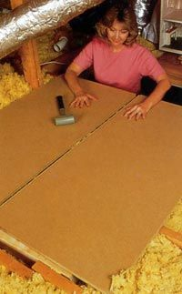 DIY Cost to Install Attic Flooring - Adding plywood sheets to an unfinished attic was one of the best investments we made to a house because it created much needed storage place. Compare the cost of doing it or hiring out the job.