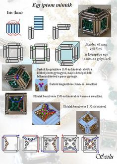 beaded cube with bugle beads