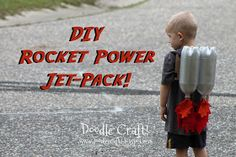 DIY Rocket Power Jet-Pack!  I'm a long way away from needing to even think about this, but this is too cute an idea not to pin!