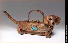 Hot-Dig-It_Tea Dog is a ceramic teapot in the form of a Dachshund puppy By Merle Ruth Dachshund Art, Daschund, Funny Dachshund, Weenie Dogs, Looks Vintage, Cute Dogs, Dog Lovers, Dog Cat, Hunting Dogs