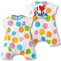 """I Love You MAMA & Papa! Introducing the new, """"I Love You MAMA & PAPA Romper,"""" available now at Lulubye. These colorful romper is perfect for daddy's little girls, daddy's little boys, momma boys, momm"""