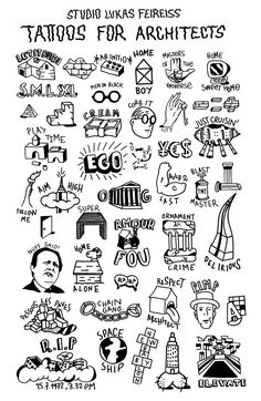 These are really hilarious. Tattoos for Architects - Studio Lukas Feireiss